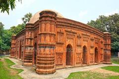 The Khania Dighi Mosque, also known as Rajbibi Masjid. Itâs a 14th century masjid, a valuable archeological heritage of Bangladesh. Chapai Nawabganj,  Rajshahi, Bangladesh. May 2009.